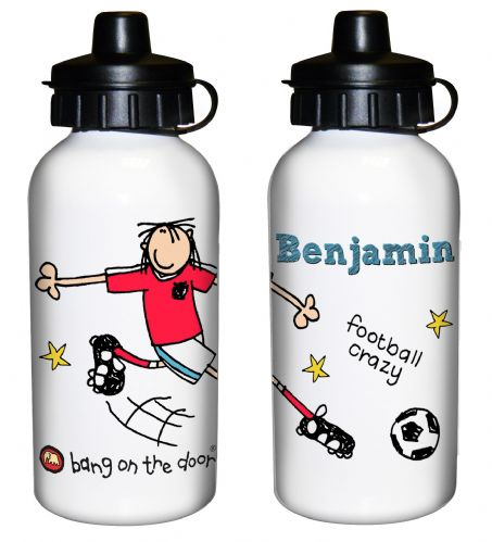 Personalised Bang on the Door Football Crazy Drinks Bottle